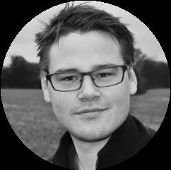 Tobias Jørgensen sorthvid lille rund